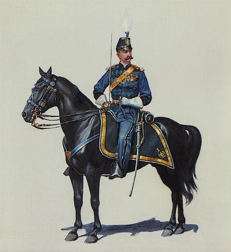 "Charles Brinton Cox (1864-1905) ""On Horseback"""
