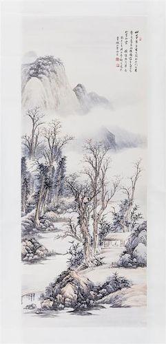After Qi Kun, (1901-1944), Mountainous Landscape