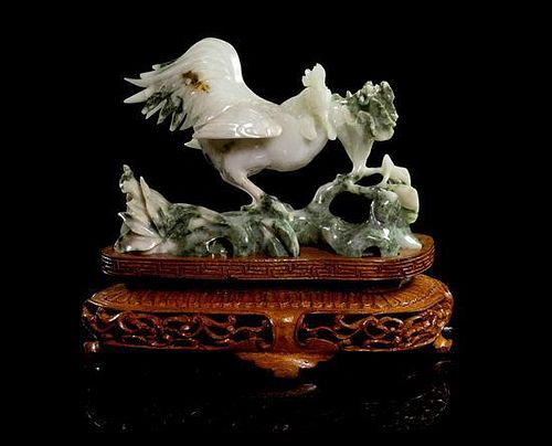 * A Jadeite Carving Height 4 inches (without stand).