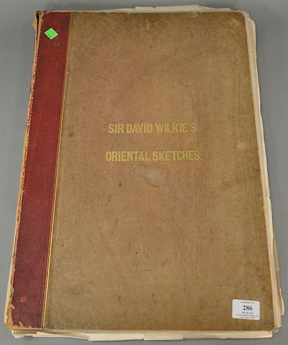 Sir David Wilkie's Oriental Sketches, portfolio 25 of 25 hand colored sketches in Turkey, Syria, and Egypt 1840 and 1841, Drawn on S...