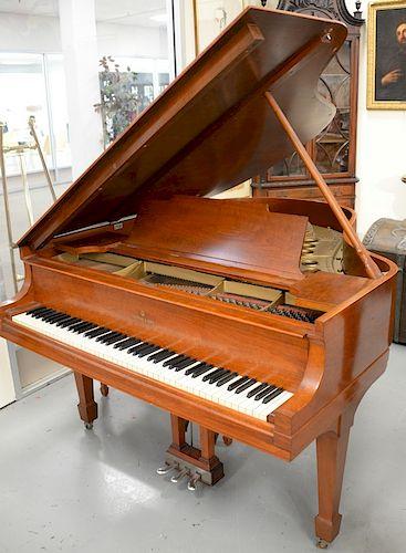Steinway Amp Sons Mahogany Baby Grand Piano And Bench M
