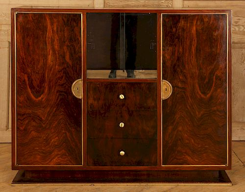 FRENCH ART DECO ROSEWOOD BAR CABINET C. 1930