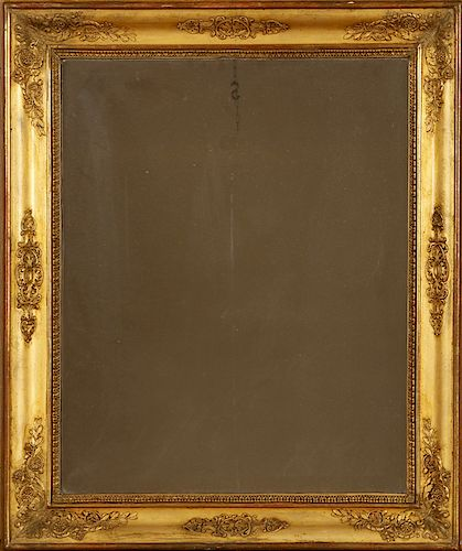 LATE 19TH CENT. FRENCH GILT WOOD MIRROR