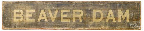 Painted Beaver Dam sign
