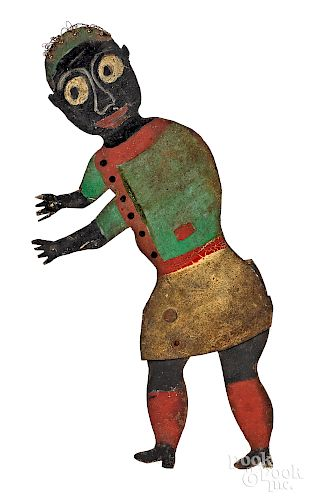 Black Americana painted tin articulated figure