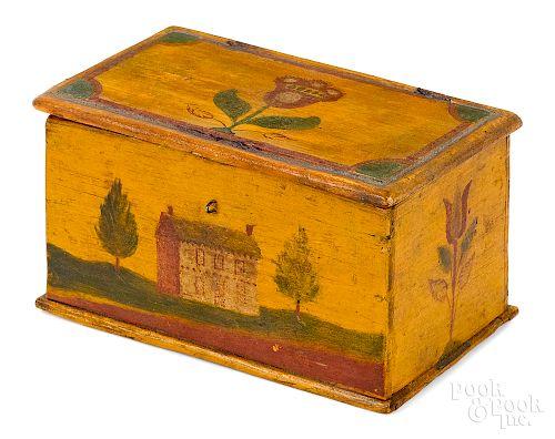 Lancaster, Pennsylvania painted pine Weber box