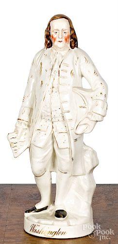 Staffordshire figure of Benjamin Franklin