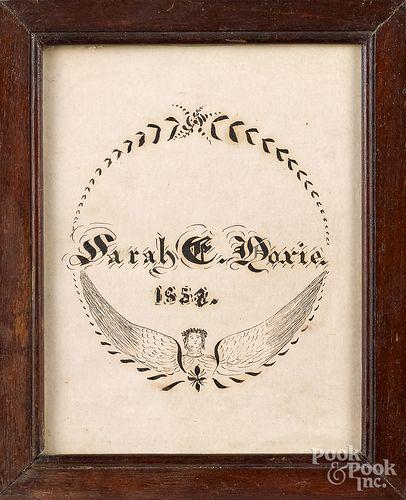 Pennsylvania ink on paper reward of merit