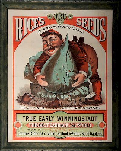 Rice's Seeds Advertising Sign