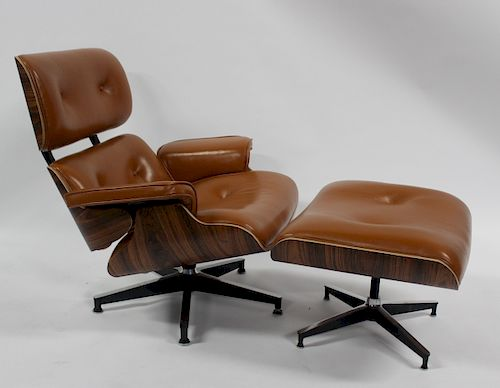 Super Vintage Eames Style Lounge Chair And Ottoman By Clarke Pdpeps Interior Chair Design Pdpepsorg
