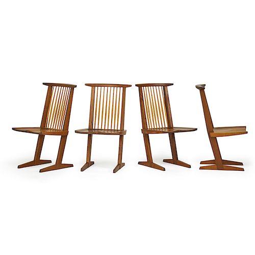 GEORGE NAKASHIMA Set of four Conoid chairs