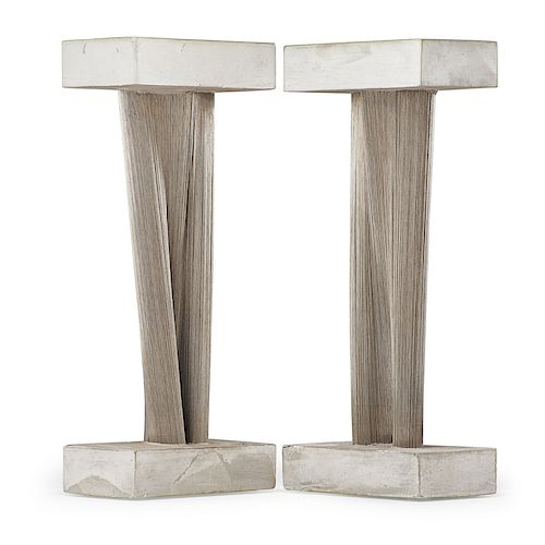 HARRY BERTOIA Rare pair of sculptures