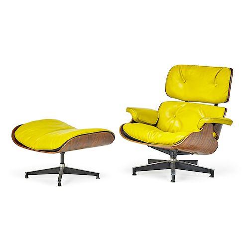 CHARLES & RAY EAMES Lounge chair, ottoman