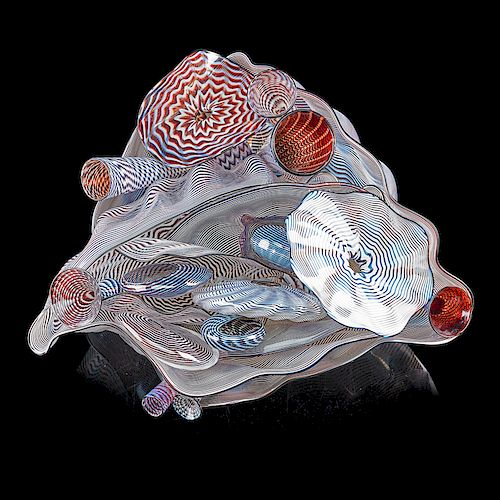 DALE CHIHULY 19-piece Seaform set