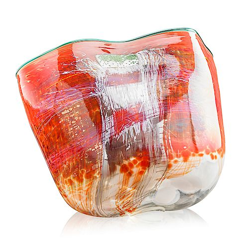 DALE CHIHULY Fine and large Soft Cylinder