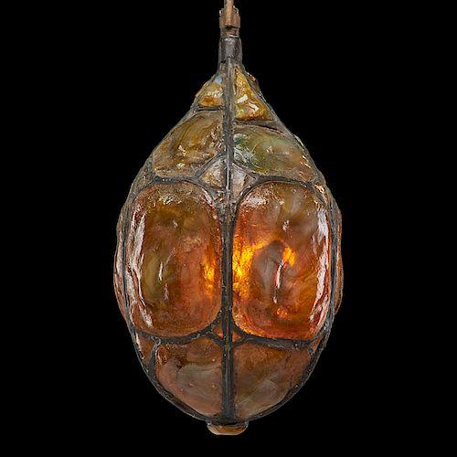 TIFFANY STUDIOS Rare early lantern