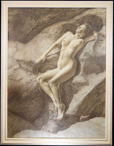 "Burt Russell ""Nude Woman"" 20th C."