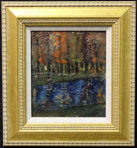 French Impressionist School River Landscape