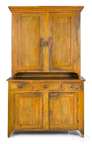 Pennsylvania painted pine Dutch cupboard