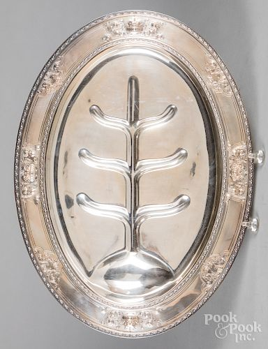 Sterling silver well and tree platter