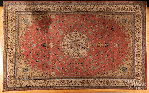 Semi-antique Tabriz style carpet