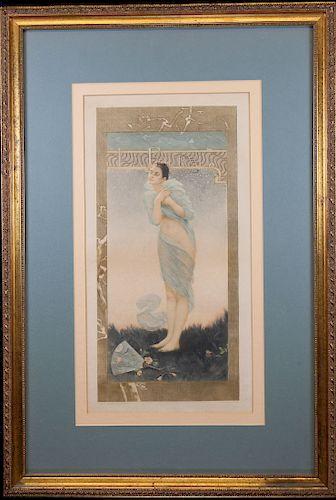 "Art Deco Photogravure, ""La Fourmi"""