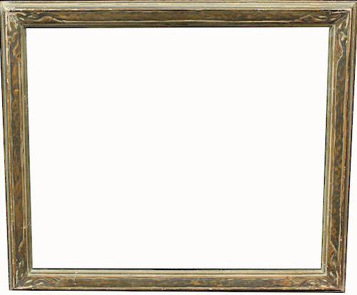 American, Carved Standard Size Wooden Frame