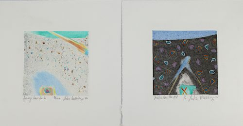 (2) Wasserberger, Abstract Lithographs, Signed