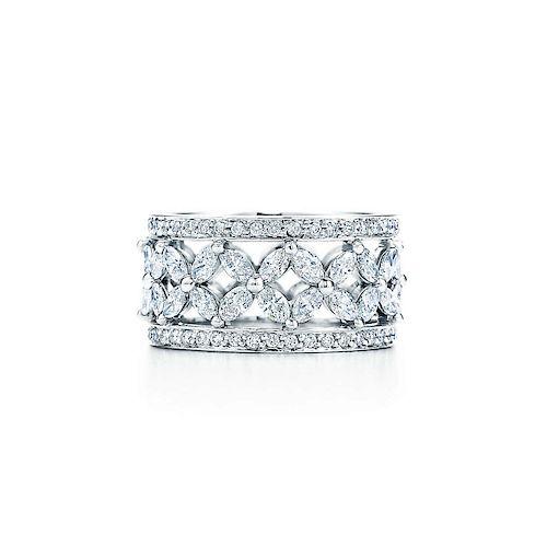 Tiffany & Co. Victoria Diamond & Platinum Ring