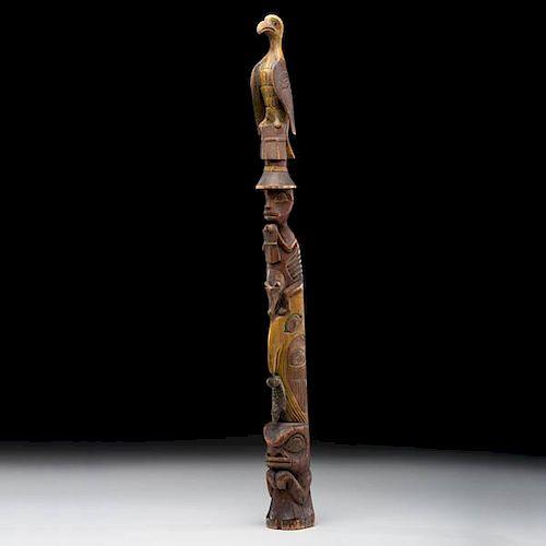 Nuu-chah-nulth Polychrome Totem Pole