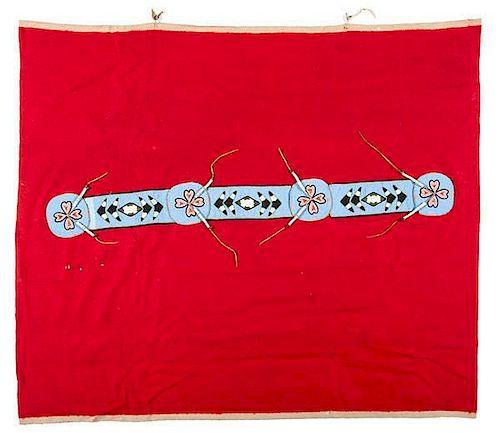 Plateau Beaded Blanket Strip on Wool Blanket