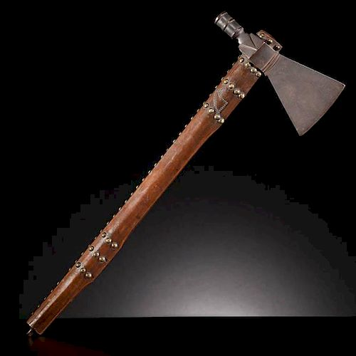 Western Plains Pipe Tomahawk with Tacked Horse Decoration