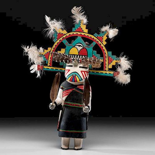 Jimmy Kewanwytewa (Hopi, 1889-1966) Attributed Polik Mana Katsina Doll