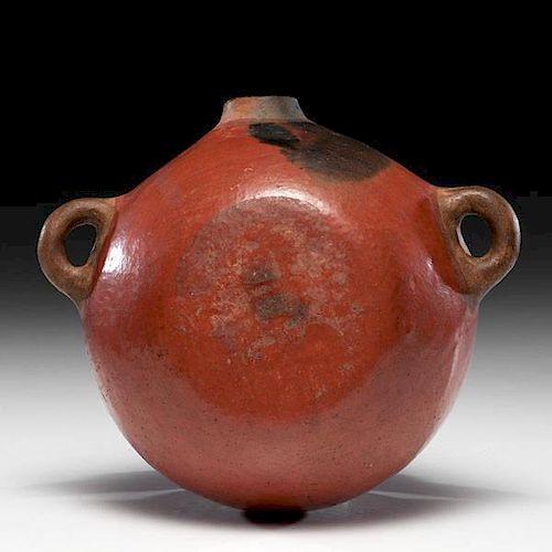 Zuni Redware Pottery Canteen