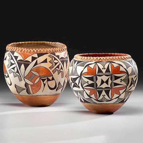 Acoma Piecrust Pottery Jars