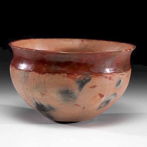 Ohkay Owingeh [San Juan] Redware Pottery Dough Bowl