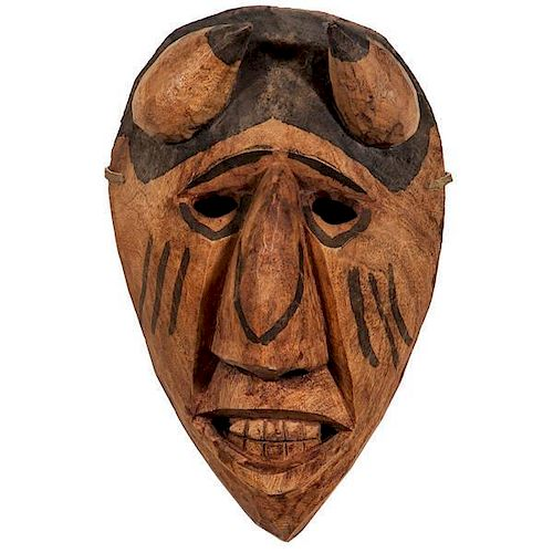 Allen Long (Cherokee, 1917-1983) Attributed Carved Devil Booger Mask
