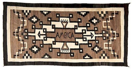 Navajo Eastern Reservation Weaving / Rug, Ameyca