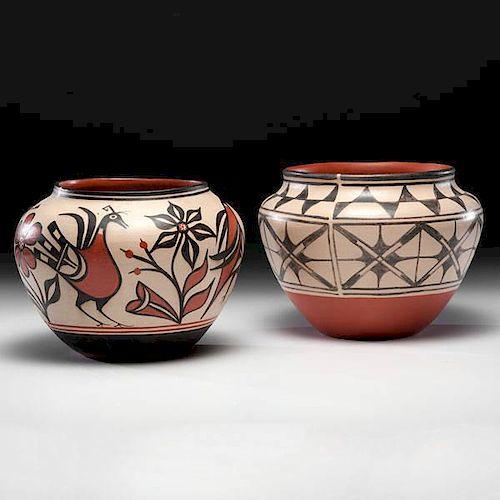 Robert Tenorio (Kewa [Santo Domingo], b.1950) Pictorial Pottery Jars