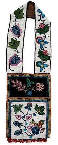 Anishinaabe [Ojibwe] Beaded Bandolier Bag