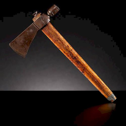 Wyandot Pipe Tomahawk Collected by Emil Schlup (1854-1935) from the Battle of Sandusky