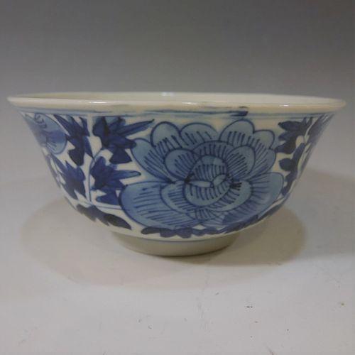 ANTIQUE CHINESE BLUE WHITE BOWL - KANGXI PERIOD