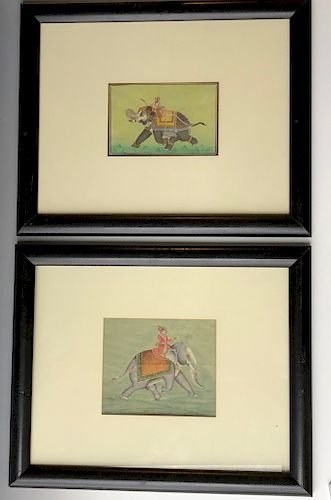 A PAIR OF INDIAN PAINTING,19TH