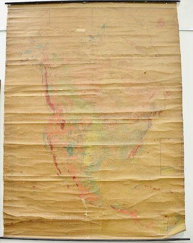 Early School Map Of United States Geologic Map Of North America