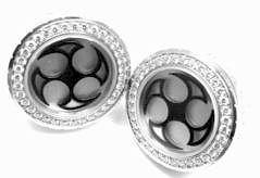 Harry Winston Ocean 18k White Gold Diamond Cufflinks