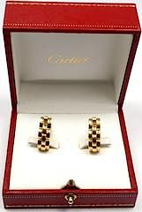 Cartier Panthere Maillon 18k Yellow Gold Stirrup Cufflinks