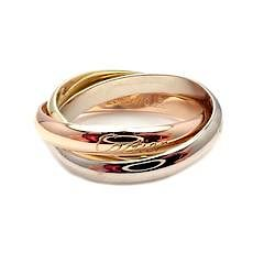 Cartier 18k Tri-Color Gold Trinity Band Ring Size 63 10