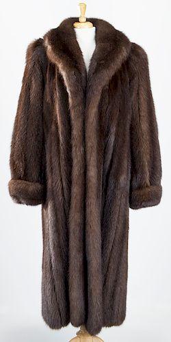 Galanos sable full length coat,
