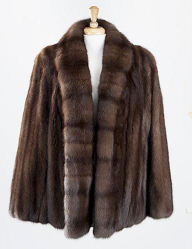 Neiman Marcus sable car coat,