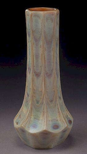 Tiffany agate glass vase,